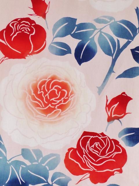 画像1: 手ぬぐい バラ