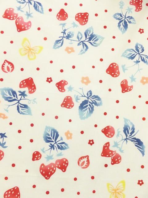 画像1: 手ぬぐい 花いちご