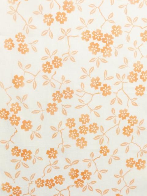 画像1: 手ぬぐい 枝桜 さんご色