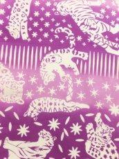 画像2: 手ぬぐい ネコカキリコ 紫 (2)