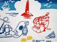 画像2: ムーミン手ぬぐい ムーミン&マリン (2)