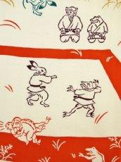 画像1: 手ぬぐい 鳥獣戯画 柔道 (1)