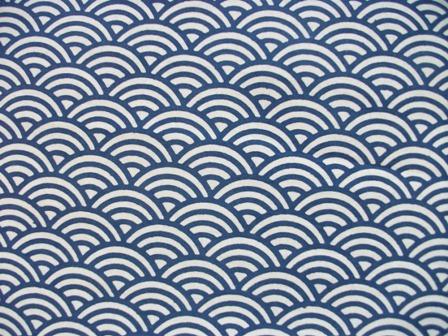 画像1: 手ぬぐい 青海波