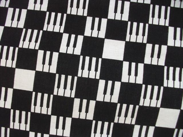 画像1: 手ぬぐい ピアノ市松 (1)