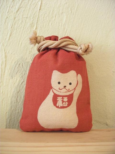 画像1: 守袋 招き猫 (1)