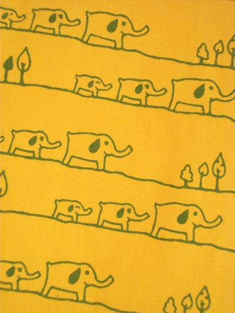 画像1: 手ぬぐい ゾウ家族