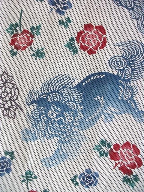 画像1: 刺子手ぬぐい 獅子 (1)