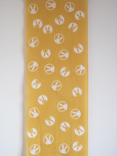 画像2: 手ぬぐい うさぎ 黄色