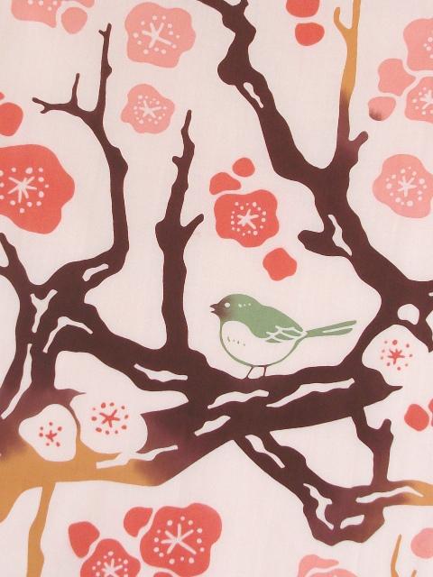 画像2: 手ぬぐい 春待ち梅