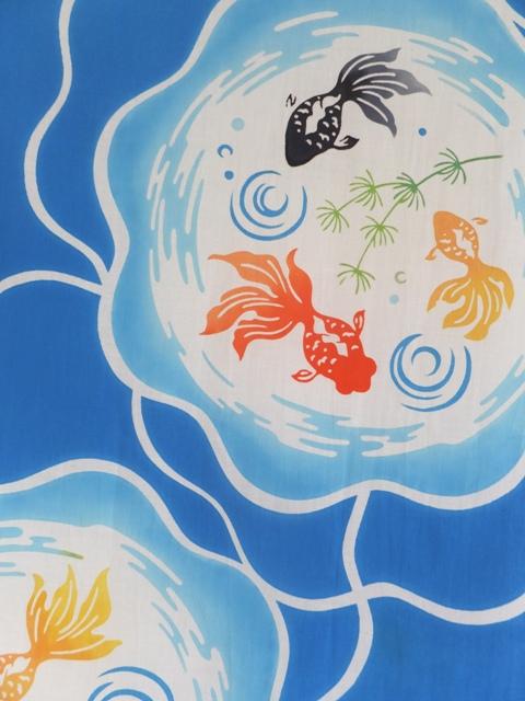 画像1: 手ぬぐい 金魚鉢 (1)