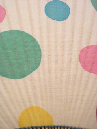 画像2:  【お買い得 30%OFF】【ラスイチ】 梨園染の手ぬぐいうちわ シャボン玉