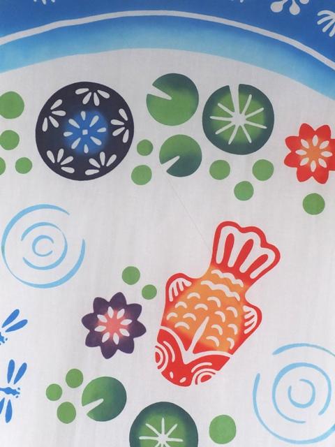 画像1: 手ぬぐい 浮き玉金魚