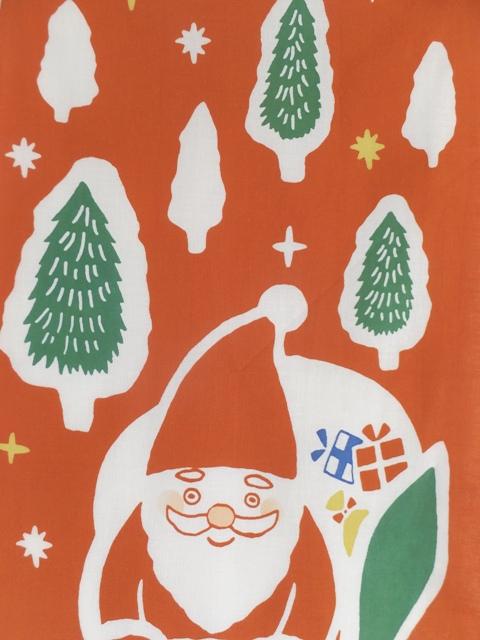 画像1: 手ぬぐい サンタの配達