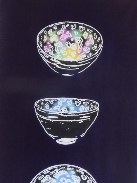 画像1: 手ぬぐい 曜変天目茶碗