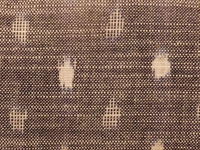 画像2: 久留米絣のがまぐち 水玉 灰色