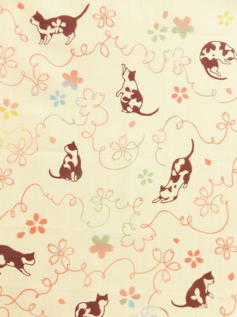 画像1: 手ぬぐい さくら猫 (1)