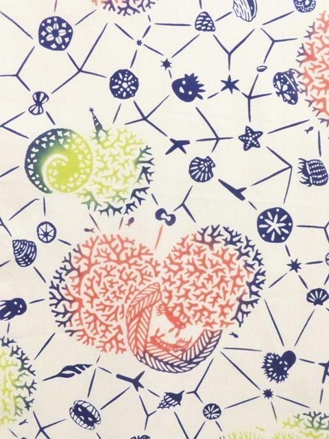 画像2: 手ぬぐい 海底の星 カラフル