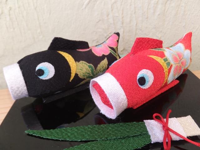 画像2:  【ラスイチ!】【お買い得 40%OFF】 ちりめん飾り 祝い鯉のぼり