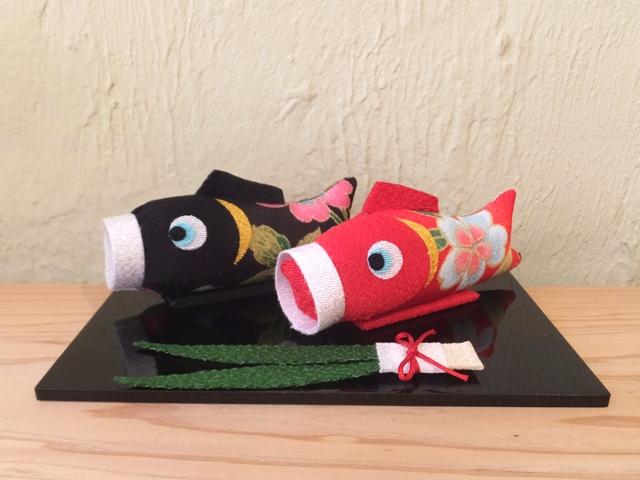 画像1:  【ラスイチ!】【お買い得 40%OFF】 ちりめん飾り 祝い鯉のぼり