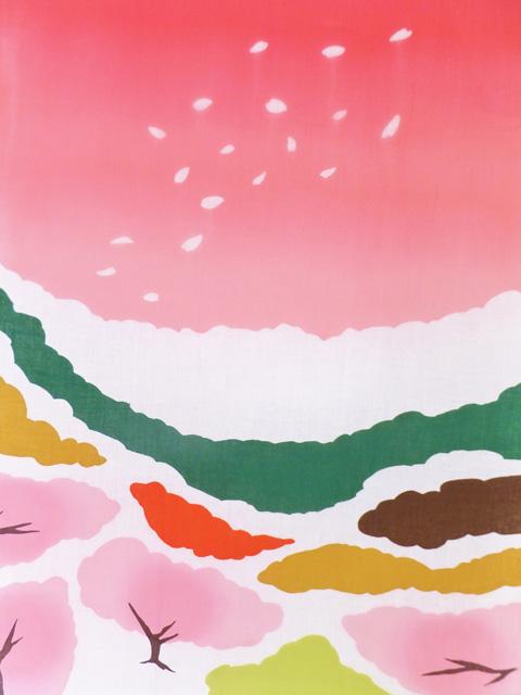 画像2:  【お買い得 20%OFF】 手ぬぐい 桜富士