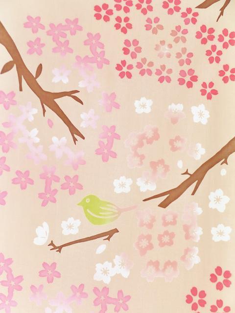画像1: 手ぬぐい 見上げ桜 (1)
