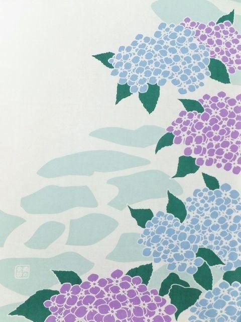 画像2: 手ぬぐい 紫陽花小路
