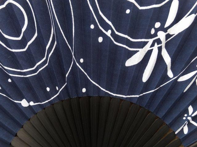 画像2: 染の安坊の手ぬぐい扇子 水辺のトンボ