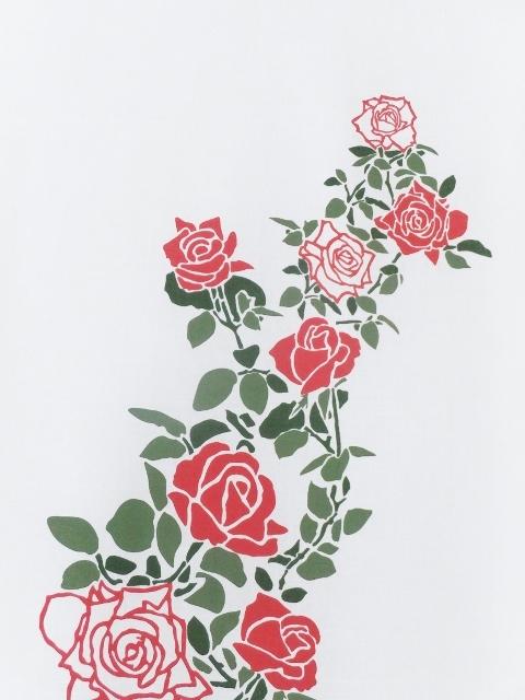 画像2: 手ぬぐい 庭にバラ