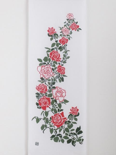 画像3: 手ぬぐい 庭にバラ