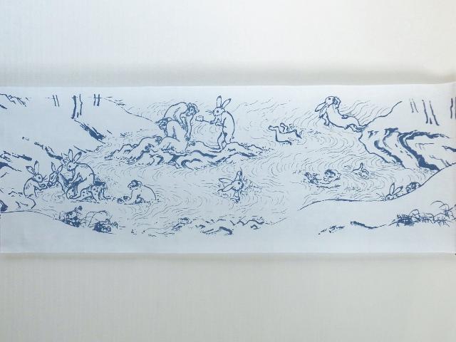 画像3: 手ぬぐい 鳥獣戯画 水遊び