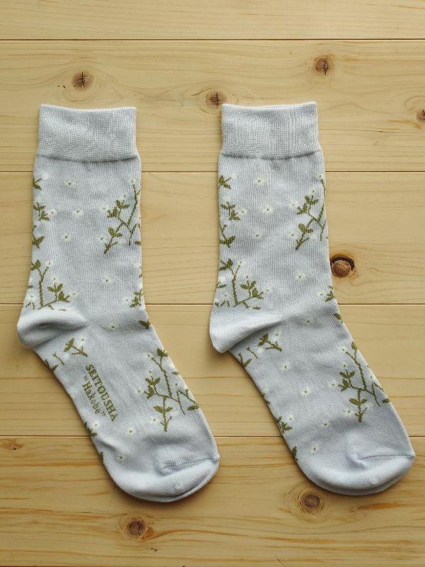 画像1: 星燈社の丸編み靴下 はこべ (1)