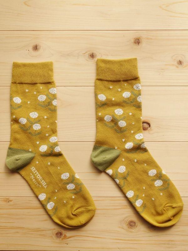 画像1: 星燈社の丸編み靴下 音色