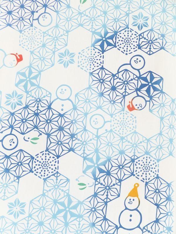 画像2: 手ぬぐい 麻雪だるま