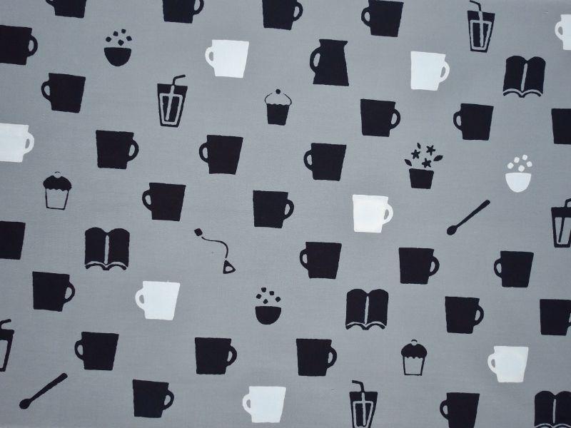 画像2: 手ぬぐい カフェ グレー