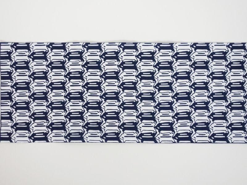 画像2: 手ぬぐい イノシシ絣 紺