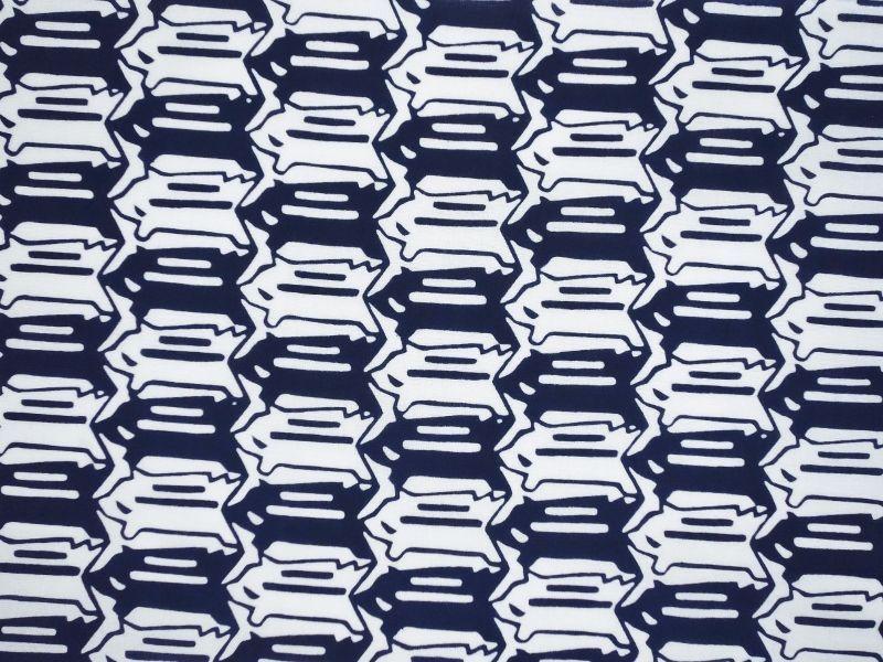 画像1: 手ぬぐい イノシシ絣 紺
