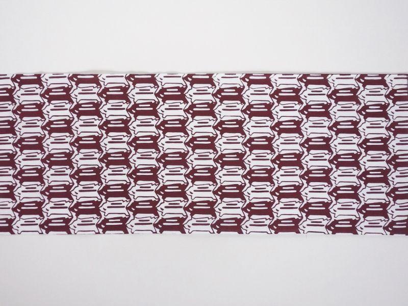 画像2: 手ぬぐい イノシシ絣 紫