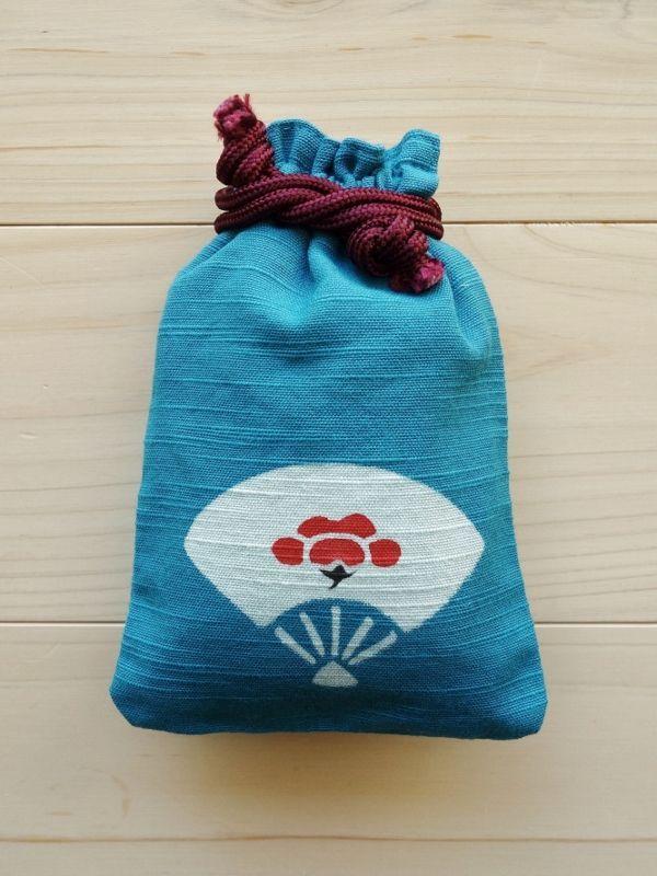 画像1: 守袋 扇に梅