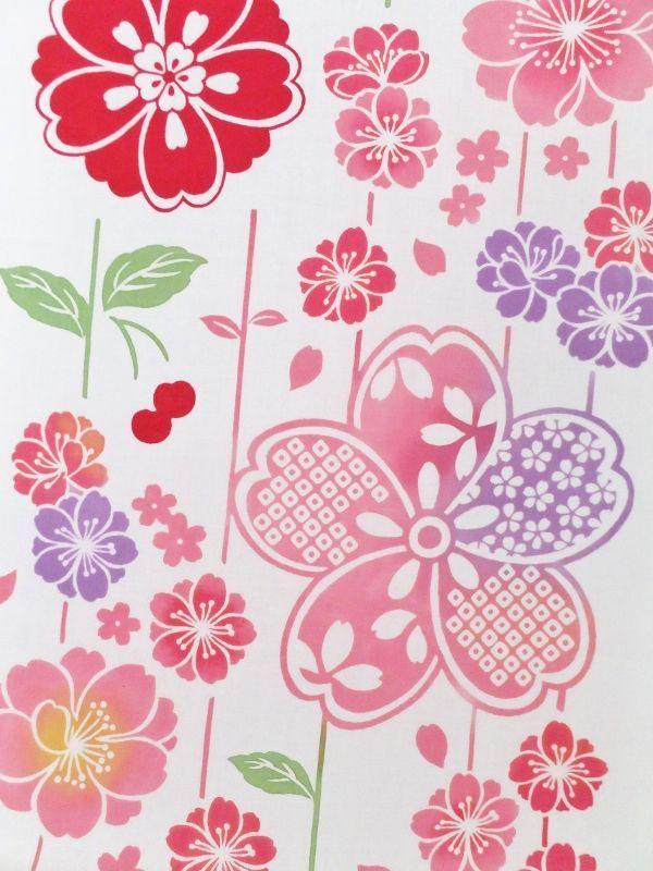 画像1: 手ぬぐい さがり桜