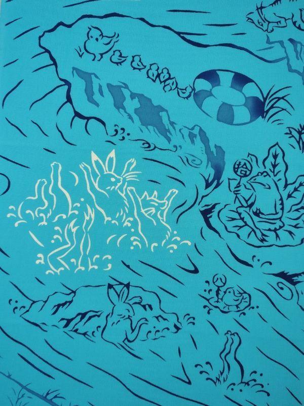 画像2: 手ぬぐい 鳥獣戯画 水泳