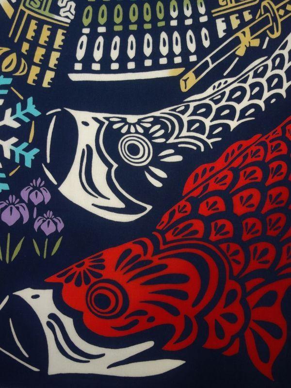 画像2: 手ぬぐい 鎧飾りと鯉幟