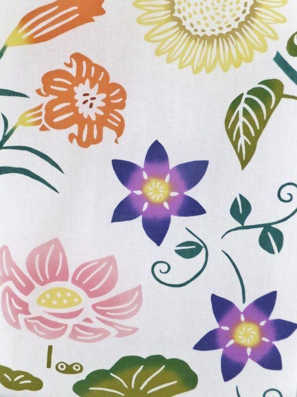 画像2: 手ぬぐい 夏の花