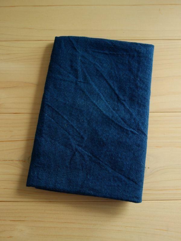 画像1: 綿麻手ぬぐい 紺