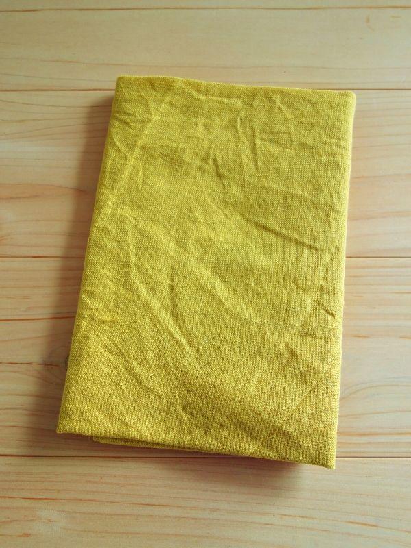 画像1: 綿麻手ぬぐい 黄