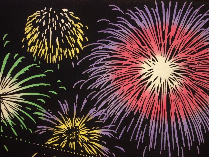 画像2: 手ぬぐい 花火大会の夜