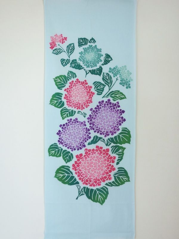 画像3:  【ラスイチ】 手ぬぐい 紫陽花