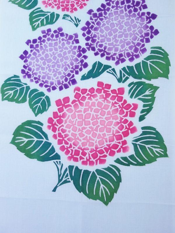 画像2:  【ラスイチ】 手ぬぐい 紫陽花