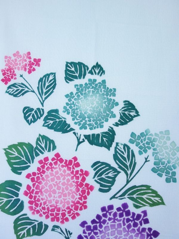 画像1:  【ラスイチ】 手ぬぐい 紫陽花