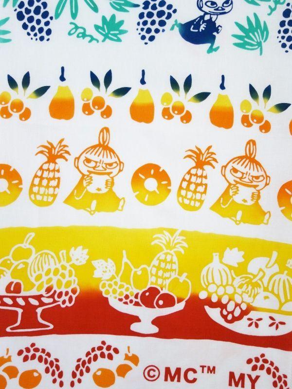 画像1: ムーミン手ぬぐい リトルミイ&フルーツ (1)