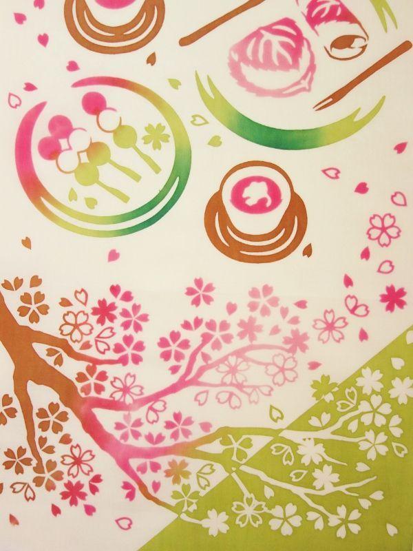 画像1: 手ぬぐい 春風のお花見 (1)